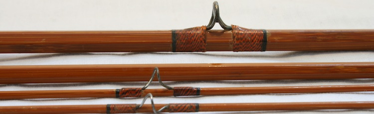 Granger Victory Bamboo Fly Rod guides before